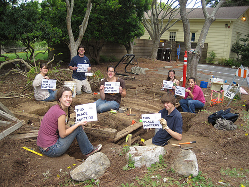 Anthropology students helped excavate the Cardiff Shed site.